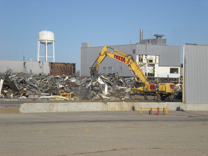 The Wixom Assembly Plant is demolished